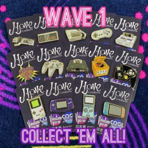 Wave 1 Gamer Enamel Pin Bundle