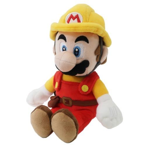 Builder Mario Official Super Mario Maker 2 Plush (1)