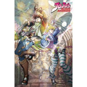 JoJo's Bizarre Adventure Joseph & Caesar Poster
