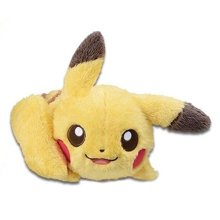 Laying Pikachu Pokemonlife with Pikachu Banpresto Plush (1)