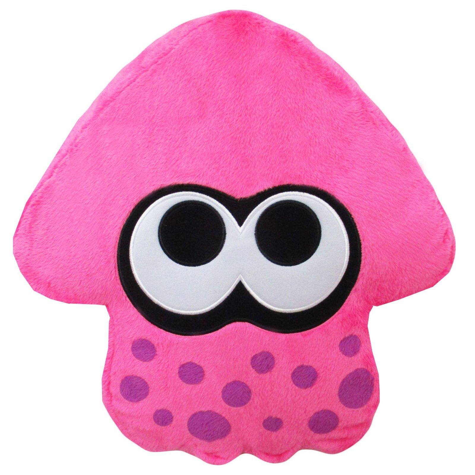 Neon Pink Splatoon 2 Squid Cushion (1)