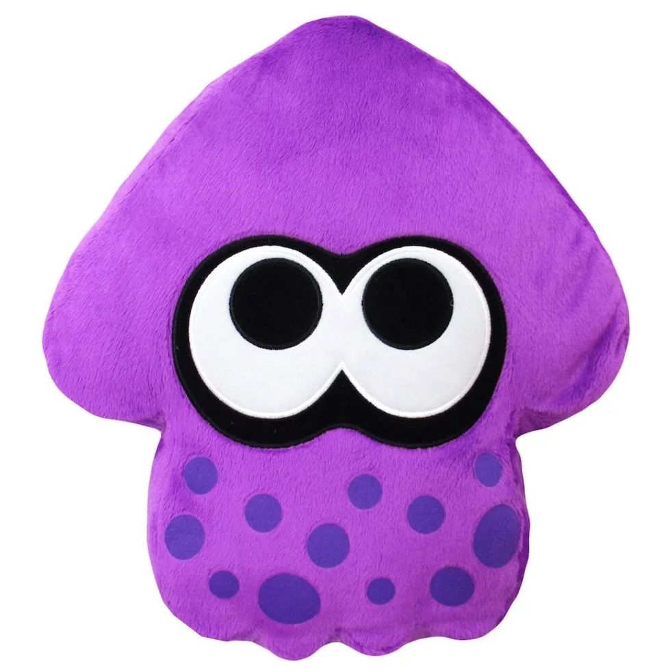 Neon Purple Splatoon 2 Squid Cushion (1)