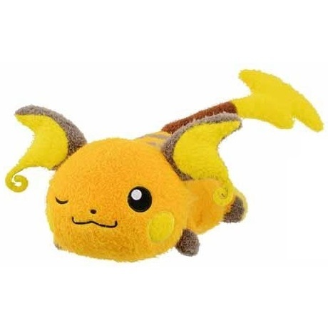 Raichu Pokemon Kutsurogi Time Banpresto Plush 82113