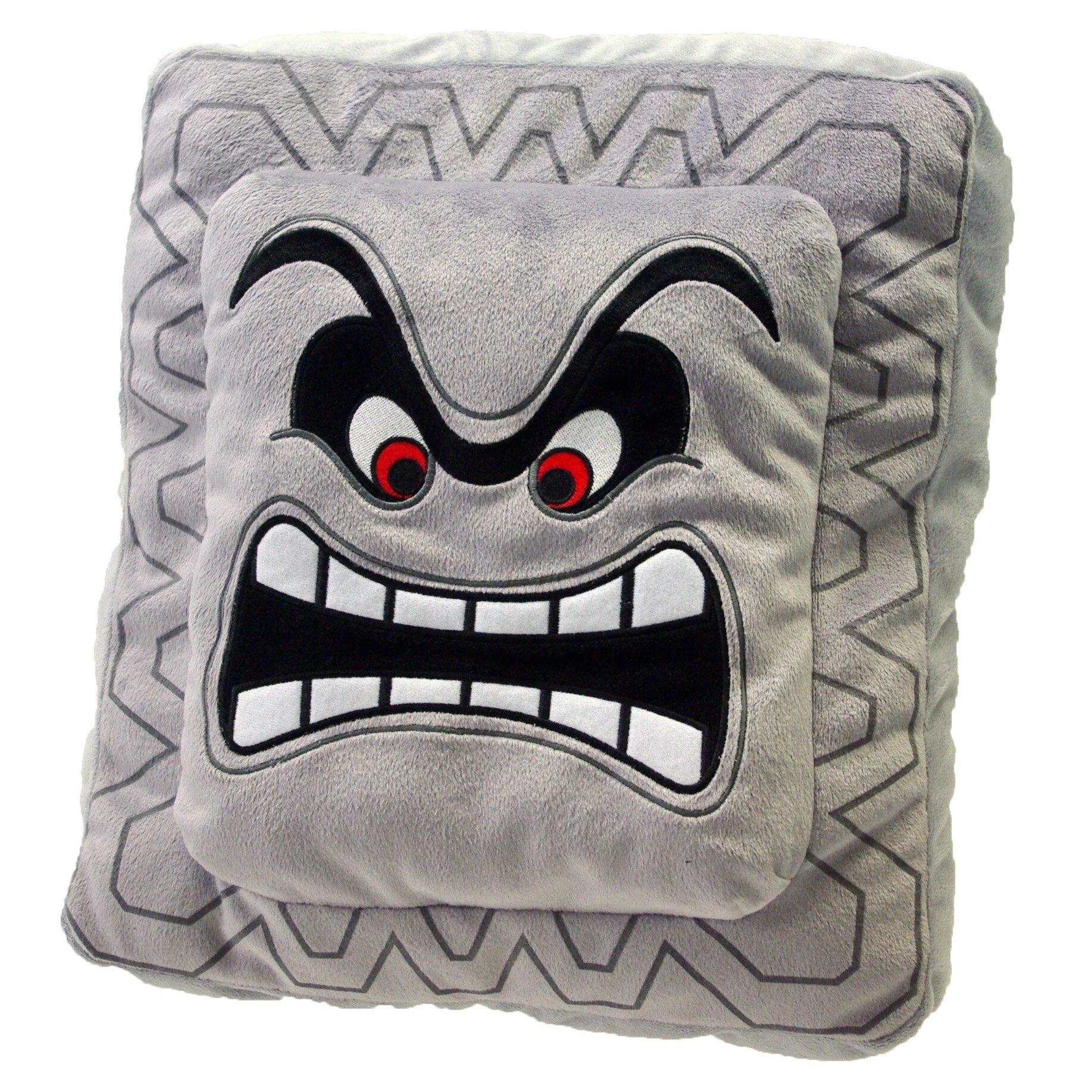 Thwomp Official Super Mario Cushion Plush (1)