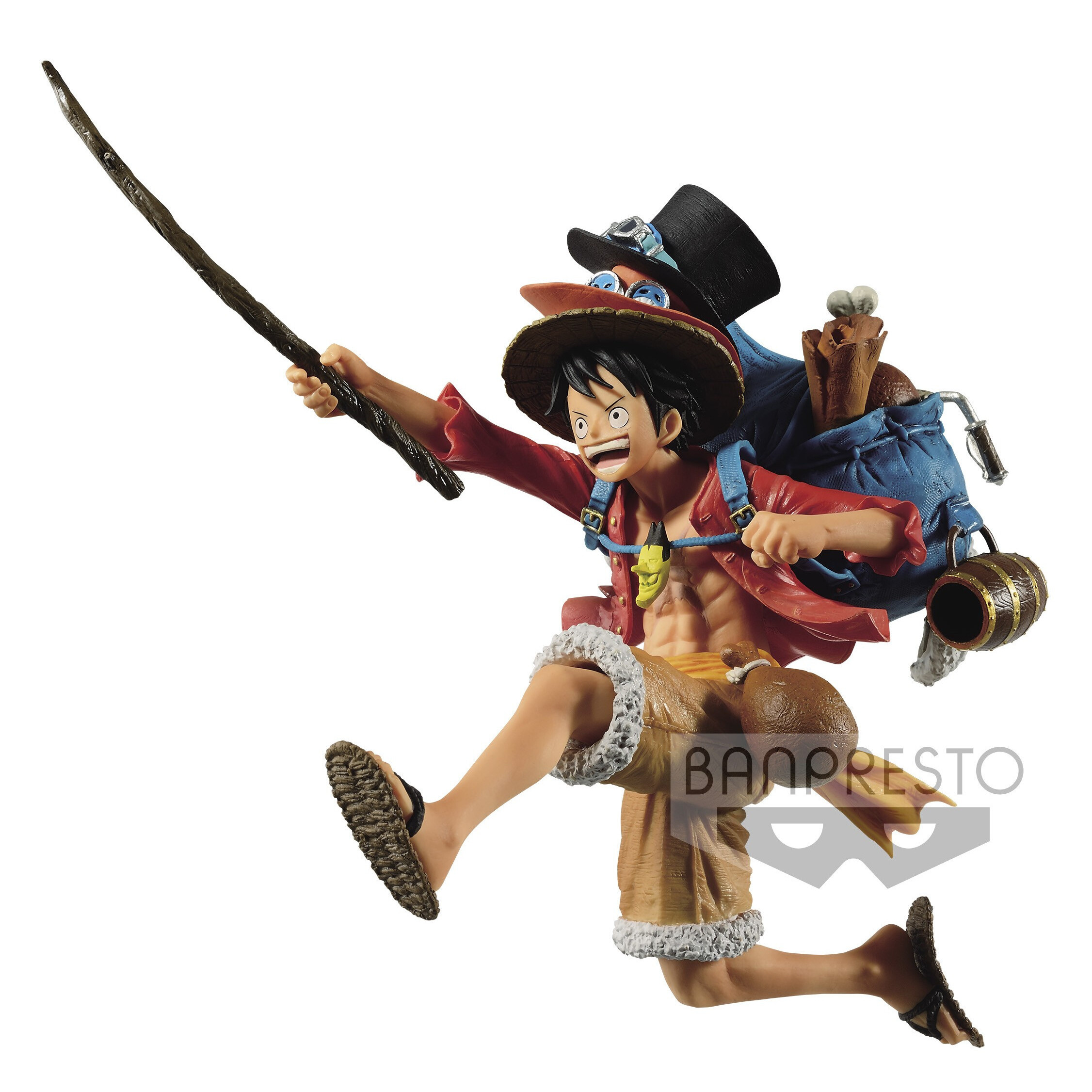 Monkey D. Luffy One Piece Mania Produce Three Brothers Figure (1)