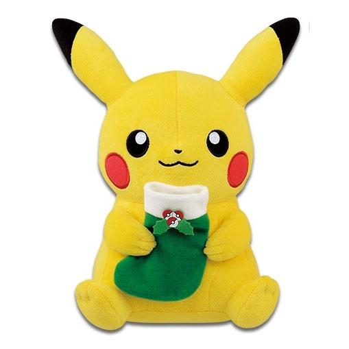 Christmas Pikachu with Green Stocking Banpresto Plush (1)