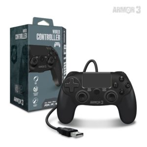 Wired Game Controller For PS4・PC・Mac (Black)