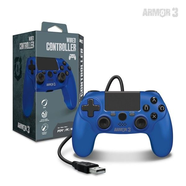 Armor3 PS4 Wired Controller Blue (1)