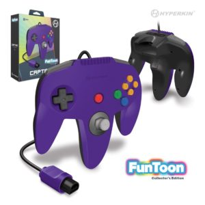 """Captain"" N64 Wired Controller (Rival Purple)  Funtoon Collector's Series"