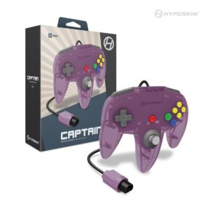 """Captain"" N64 Wired Controller (Amethyst Purple)"