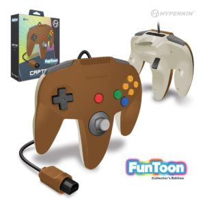 """Captain"" N64 Wired Controller (Hero Brown) Funtoon Collector's Series"
