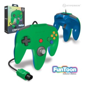 """Captain"" N64 Wired Controller (Hero Green) Funtoon Collector's Series"