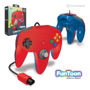"""Captain"" N64 Wired Controller (Hero Red) Funtoon Collector's Series"