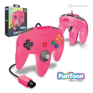 """Captain"" N64 Wired Controller (Princess Pink) Funtoon Collector's Series"