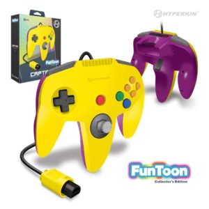 """Captain"" N64 Wired Controller (Rival Yellow) Funtoon Collector's Series"