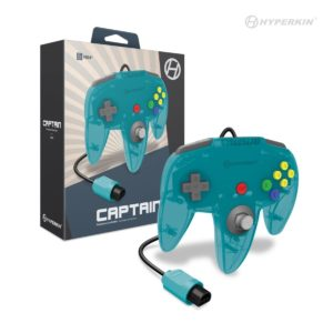 """Captain"" N64 Wired Controller (Turquoise)"
