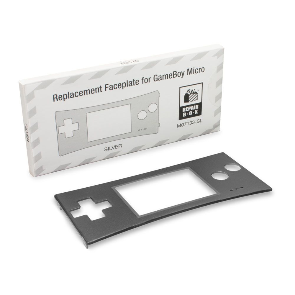 GameBoy Micro Faceplate Silver (1)