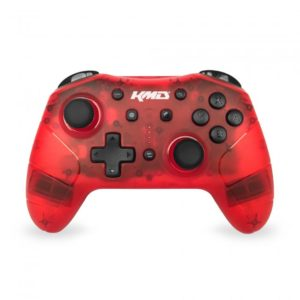 KMD Wireless Pro Controller for Nintendo Switch (Clear Red)